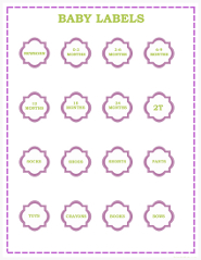Baby Clothes Labels
