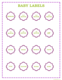 Baby Girl Clothes Labels