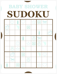 Baby Shower Sudoku Game
