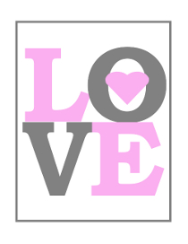 Free Love Print for Baby Nursery