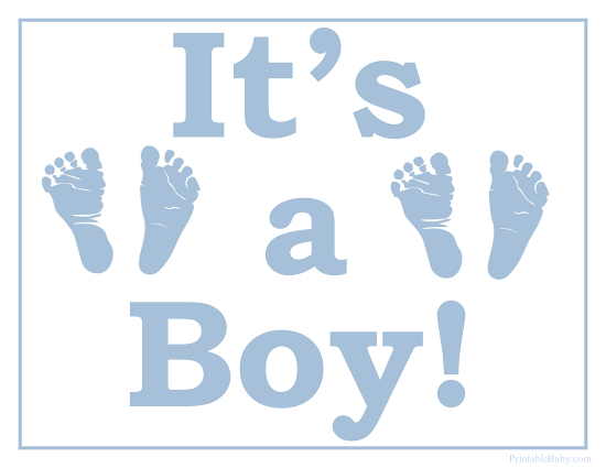Printable It S A Boy Sign